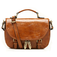 Lucky Orange Crossbody Shoulder Bag The Best Quality Wholesale Small Brown Red Soft Leather With Compartments Satchel