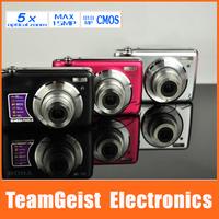 "2014 Brand NEW 2.7"" inch TFT Digital camera / Digital video camcorder Max 15MP 8.1MP COMS Macro 5x Optical Zoom LENS Anti-Shake"