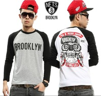 2013 new autumn/winter west coast  Skeleton Long sleeve  T-shirt lover tee  #T-08
