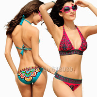 B004 Sale 2013 VS Hot Brand Print Triangle Bikini Set For Women The Bathing Suit Sexy Swimsuit Beachwear Bathers