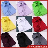 HQ Men solid color long-sleeved shirt wild evening dress shirt cotton high-quality long leeve shirt 15 color S-6XL Plus size