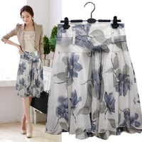 2014 new short skirt lacing a-line skirt tulle  print bust skirt summer women's medium