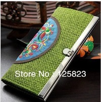 Qiang embroidery embroidered purse by hand ,   Yunnan ethnic wind  ,  cross-stitch