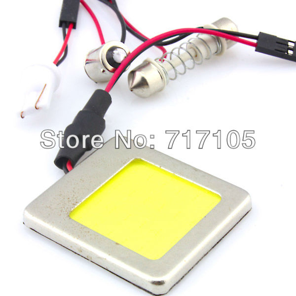White 7W COB Chip LED Car Auto Interior Light T10+Dome+BA9S Adapter,FREE SHIPPING Car Interior Lights Bulb Lamp Wholesale(China (Mainland))