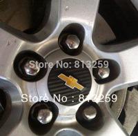 Chevy Cruze Fiber Emblem Logo Mark Wheel Hub Sticker X 4PCS