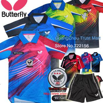 TENERGY Butterfly table tennis shirt / game shirts / Table Tennis clothes men , Table Tennis sports jersey ,Ping pong shirt