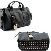 2014 new women pu leather handbags Rivets decoration designers brand Lady shoulder bag messenger bags satchel hobo tote NB0161