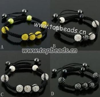 Free Shipping! holesales Shamballa Bracelets,10mm Shamballa Disco Ball Bracelet