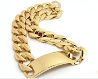 2013 HOT Celebrity style Kim Kardashian Chunky metal chain Gold ID Choker Necklace,N0119