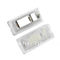 Free shipping 20pairs White 18 LED Number License Plate Lights Lamp Bulb for BMW Mini Cooper R52 R53