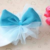 (10pcs/lot )  New Cute Kids/Girl/Princess/Baby Fashion Beautiful Bow Hair Accessories Hairpins/ Hair clip/ PJ047