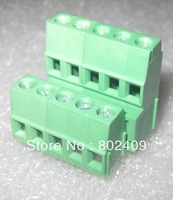 10pcs/lot 300V/15A 5.08mm 5P PCB Universal Screw Terminal Block, 5 ways x 2 rows, Brass Pin, KF128HL EG500B