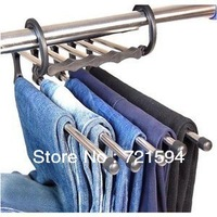 Free Shipping plastic Magic trousers hanger/rack multifunction pants closet hanger/rack