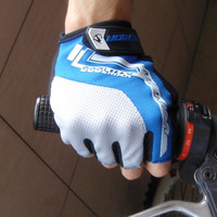 New Cycling Bike Bicycle Ultra-breathable Shockproof GEL Half Finger Glove Blue