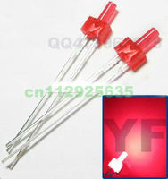 (CE&Rosh)Tower package RED 2MM flat top led Diffused DIP LED 1.8-2.2V 1000PCS