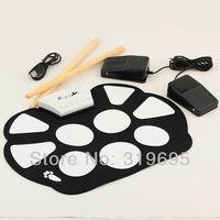 Portable Flexible Roll Up Silicone Drum Pad Electronic USB Drum Digital Drum Kit Percussion Mini Drum Set