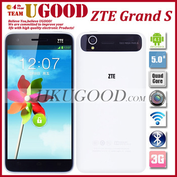 "Hot Selling New Original ZTE Grand S Thinnest 3G Android Phone  Quad Core 1.5G CPU 2GB/16GB ROM 5.0"" IPS 1920*1080 Screen 13MP"