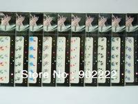 New arrival Magic glitter flower nail sticker self-adhesive full nail art sticker 20 sheets/lot free shipping
