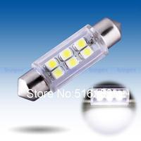 2pcs 39mm 6 SMD Pure White Dome Festoon Interior 6 LED Car Light Bulb Lamp Interior Lights C5W Led