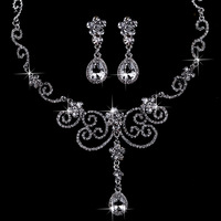 Cheap!!! 100% crystal bridal jewelry sets noble jewelry sets alloy wedding accessories