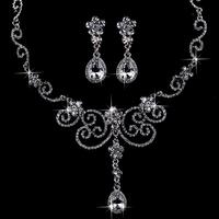 Cheap!!! fashion crystal bridal jewelry sets noble jewelry sets alloy wedding jewelry sets accessories