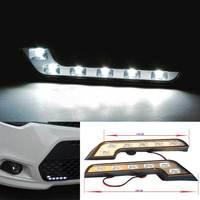 2 X 6 LED White Car Driving Lamp Fog 12v Universal DRL Daytime Running Light for Mercedes Benz