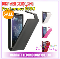 Free shipping, clearance, on sales, brand High quality leather case for Lenovo S890 case, 100%Real cowhide cover, drop shipping!