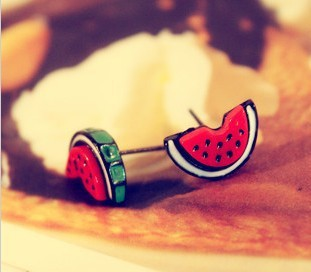 small fresh sweet cartoon small watermelon stud earring accessories