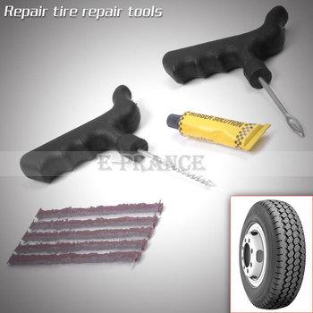 New 2014 Car Tire Repair Kit Puncture Plug Repair Tools 5 Strips Free Shipping