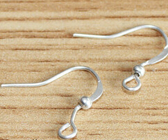 YBB Silver/Golden Plated Coil Wire Metal Earring Hooks 19mm U Pick Size/Qty u need(China (Mainland))