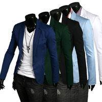 Free Shipping Mens Casual Slim fit One Button Suit Blazer Coat Jackets2013 New