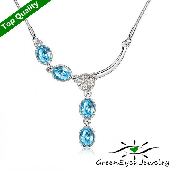 Austria crystal inlaying pendant short design crystal accessories female necklace fashion normic a depreciating- pretty woman(China (Mainland))