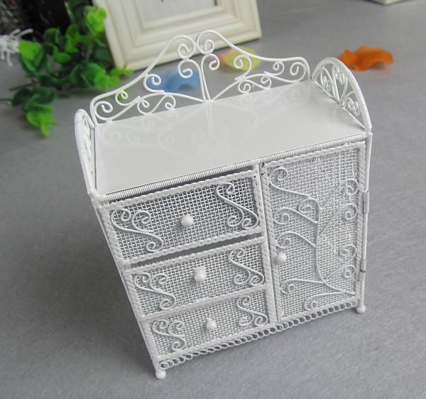 Free Shipping 9x5.5x12cm European Creative Gift Mini Furniture Cabinets Earring Display Rack Jewelry Display Showing Stand(China (Mainland))