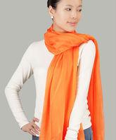 New 100% Mullberry Silk Scarves ,Ladies Long Shawl Scarf Silk  Orange Color 195cmX65cm