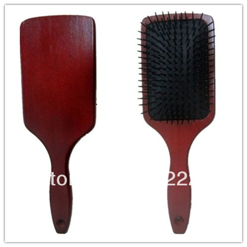 Wholesale Size:L10.2&quot;*W3.2&quot; 12Pcs/Lot,Paddle Hair Brush/Wooden hairbrush with your logo more than144Pcs Free now!+Free shipping(China (Mainland))
