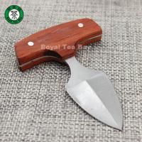 Sheathed Dart Shape Wooden Handle Puer Tea Knife For Prying Tea Cakes/ Tea Brick P157