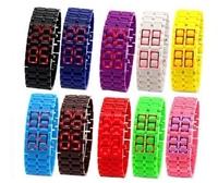 One Piece Fashion Lava Mens Male Women Female Girls LED Display Binary Wristwatches Sport Digital Bracelet Watches Free Shipping