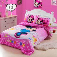 100% cotton minnie mouse children's 3pcs bedding set baby girl kid cartoon bed sets sheet/bed linen/duvet cover/ bedclothes#30-2