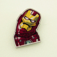 Sunshine jewelry store cute the iron man 3 brooch 142 (min order $10 mixed order)