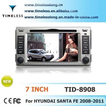 Car DVD For 2006 - 2011 Hyundai Santa Fe built in GPS Navi Navigation Radio RDS Player System High Free map Shipping