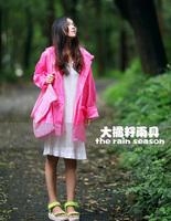 Free shipping 100%waterproof 100%breathable fashion pink lace print TPU women's girl's raincoat bicycle riding rain poncho