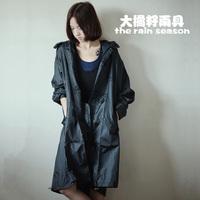Free shipping 100%waterproof 100%breathable fashion women's men's raincoat lightweight thinner rain poncho trench coat