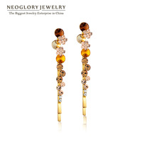 Free Shipping Neoglory MADE WITH SWAROVSKI ELEMENTS Crystal Hair Clip Jewelry Korea Style Gifts For Girls 2013 New Sale