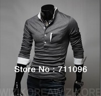 Free shipping NEW !! Mens Designer Polo Casual Long Sleeve T-Shirts Tee Shirt Slim Fit Tops New Sport Shirt