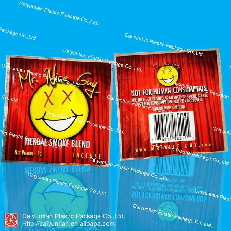 Red Mr.nice guy potpourri herbal smoke blend bag/aluminum foil bag/zipper packaging bag(China (Mainland))