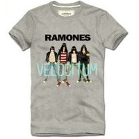 Free shipping 2013 Brasil male ramones t-shirt,summer casual short sleeve slim-fit women's and men's cotton ramones tees XXXL