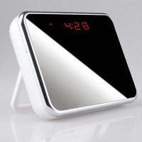 1280*960 4800mah Rechargeable wireless mini dvr Clock hidden camera black color free shipping