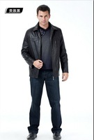 Free Shipping 2013 Hot Sale Men Spring High-grade Genuine Leather Sheep Skin Leather Jacket Coat The Size of B26