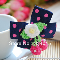 2014 New Kids/Girl/Princess/Baby Cute Lovely Cherry Bowknot Hair Accessories S/ Hairpins/ Hair clips/ PJ049