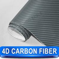 Easy To Apply 4d Car Sticker Carbon Fiber Car Wrap Vinyl